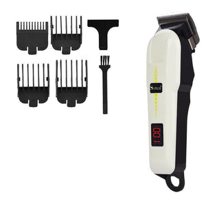 Barber Hair Clipper - Salon Quality - LED Screen - Fine Tuning