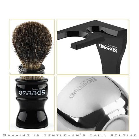 Image of Barber Badger Hair Shaving Brush Bowl Set-shavercentre.com.au