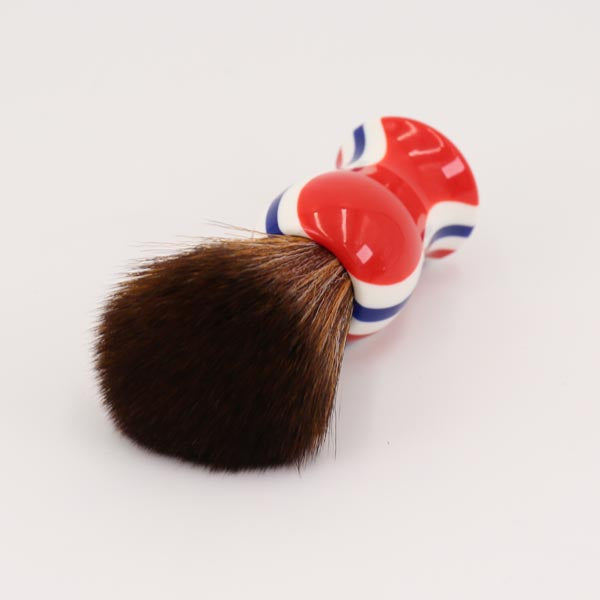 Synthetic Hair Knot Stripe Shaving Brush-shavercentre.com.au