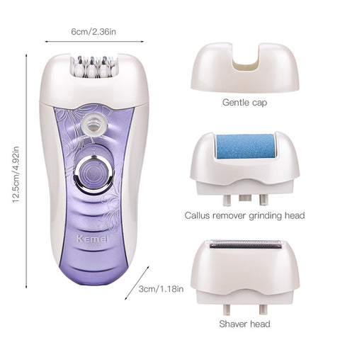 4 In1 Epilator - Shaver - Foot File - Callus Remover-shavercentre.com.au