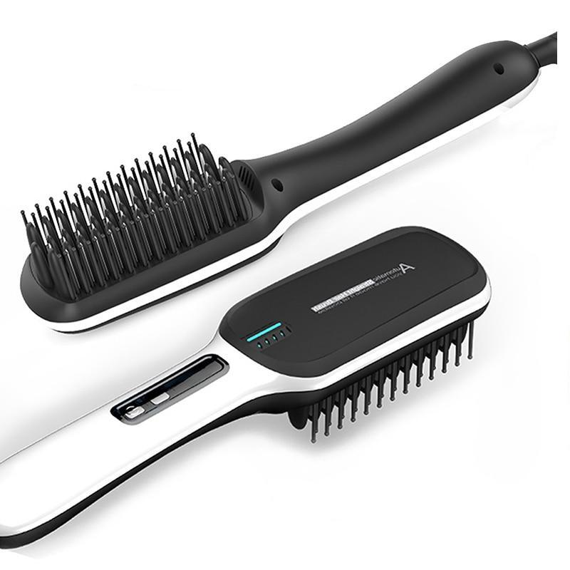 Ceramic Brush Hair Straightener-shavercentre.com.au