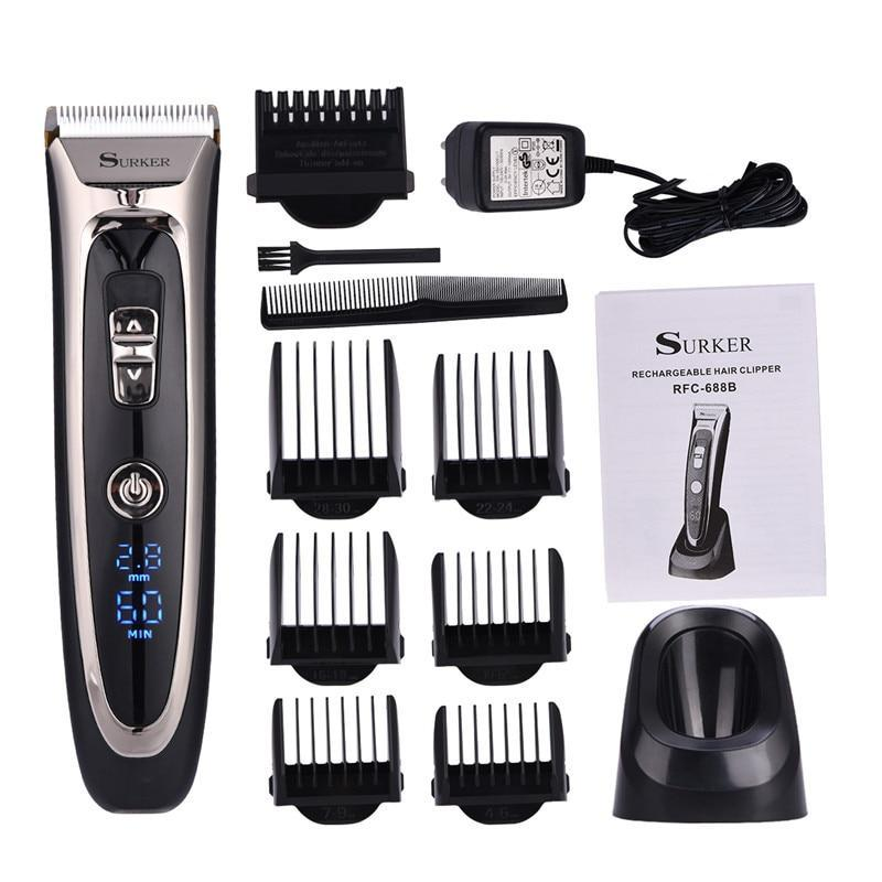 High Precision Hair Clipper -Titanium Ceramic Blade - LED Screen-shavercentre.com.au