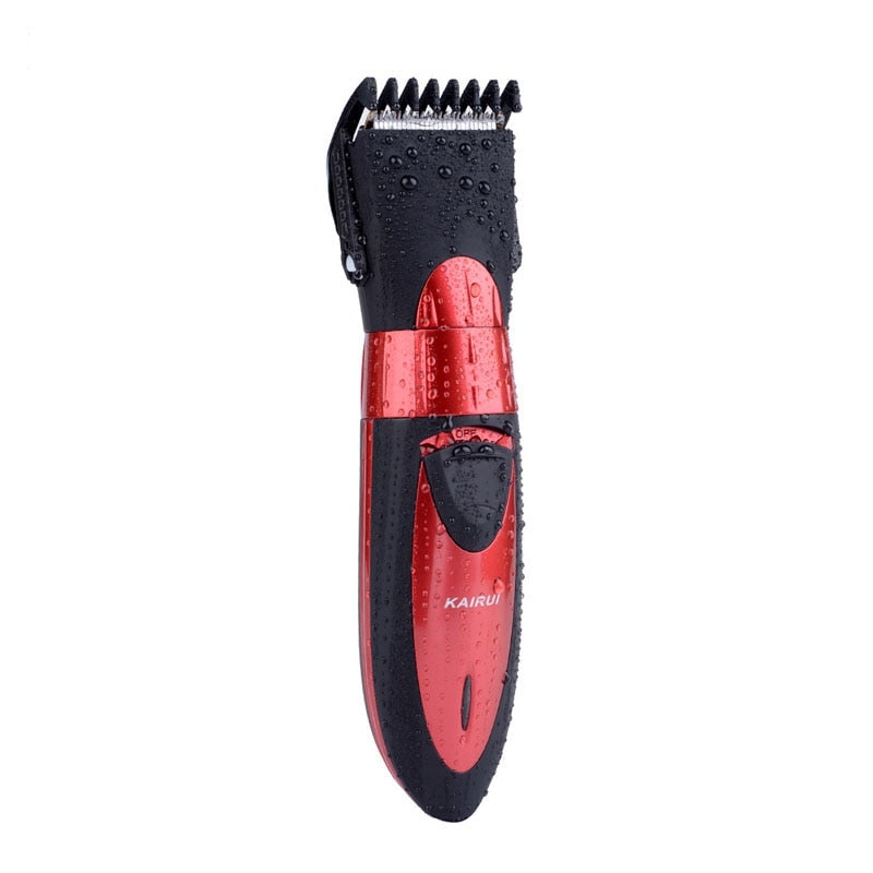 Waterproof Beard Trimmer - 5 Micro Adjustable Beard Trimmer - Red-shavercentre.com.au