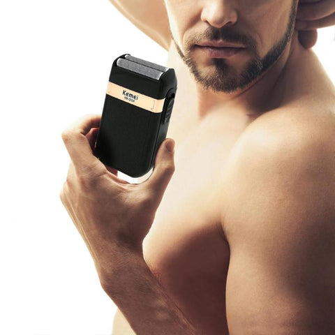 Compact Electric Shaver - Twin Reciprocating Mesh Blade-shavercentre.com.au