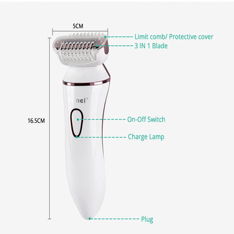 Image of 5 in 1 Multifunction Ladies Shaver-shavercentre.com.au