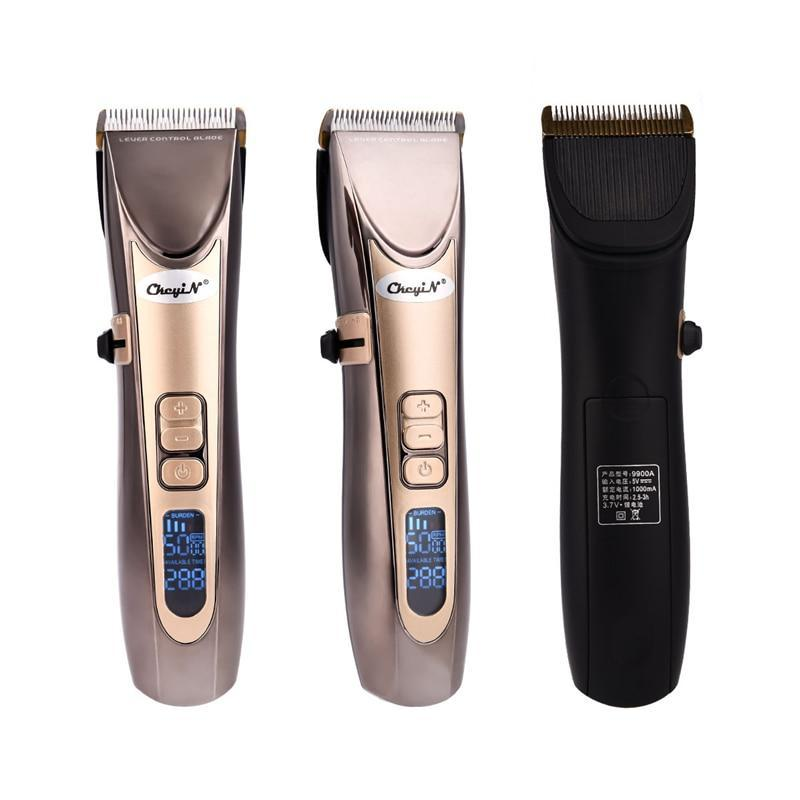 Barber Hair Clipper - LCD Digital - Fine Tuning Beard Trimmer - USB Rechargeable-shavercentre.com.au