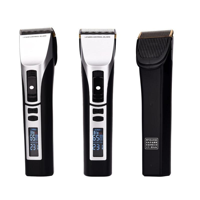 LED Hair Clipper - Micro Adjustable Beard Trimmer - Titanium Plated Steel Blade-shavercentre.com.au