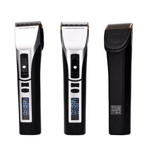 LED Hair Clipper - Micro Adjustable Beard Trimmer - Titanium Plated Steel Blade