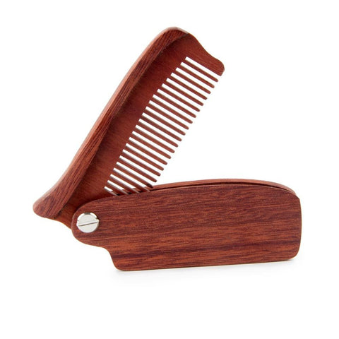 Image of Folding Wooden Beard Comb-shavercentre.com.au
