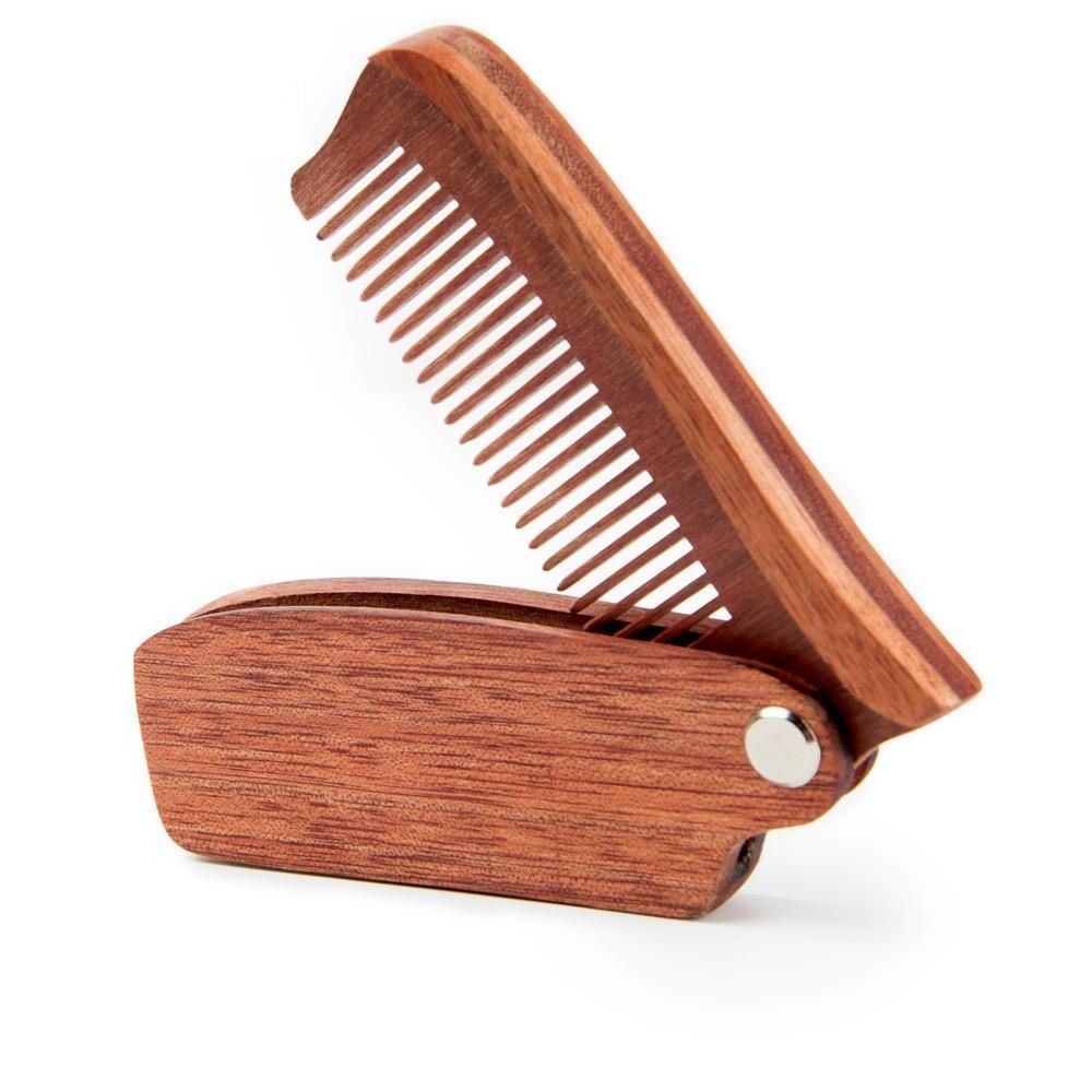 Folding Wooden Beard Comb-shavercentre.com.au