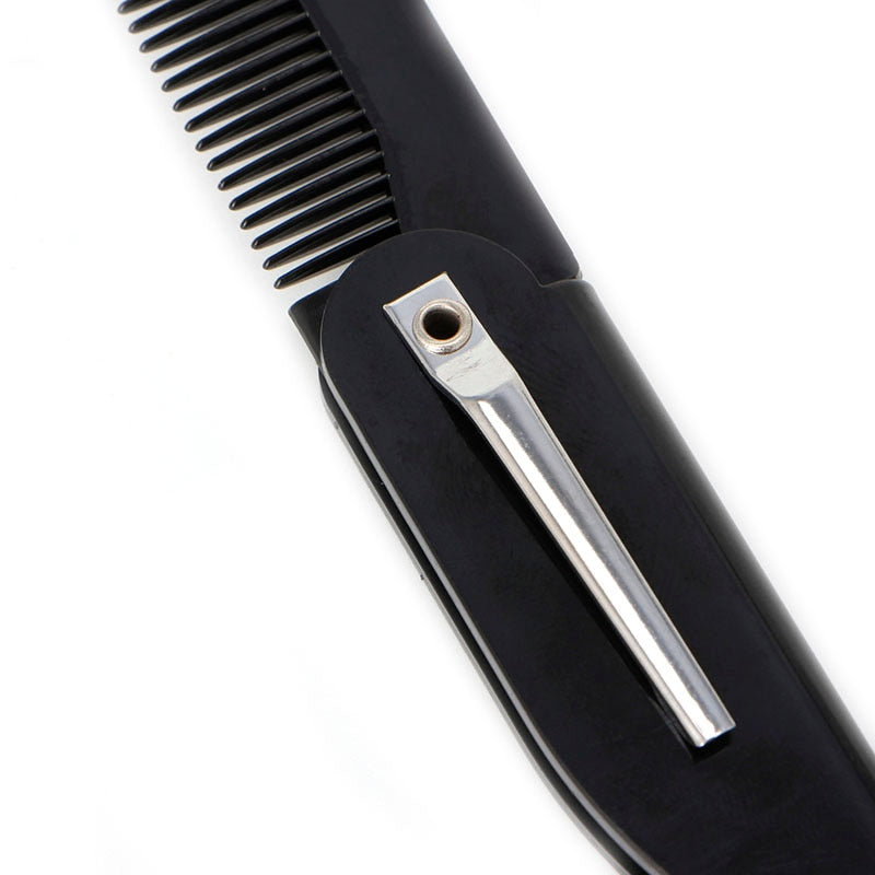 Mens Womens Beauty Handmade Folding Pocket Clip Hair Moustache Beard Comb-shavercentre.com.au