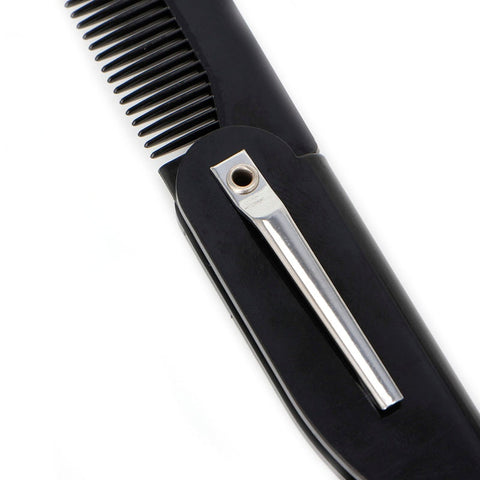Image of Mens Womens Beauty Handmade Folding Pocket Clip Hair Moustache Beard Comb-shavercentre.com.au
