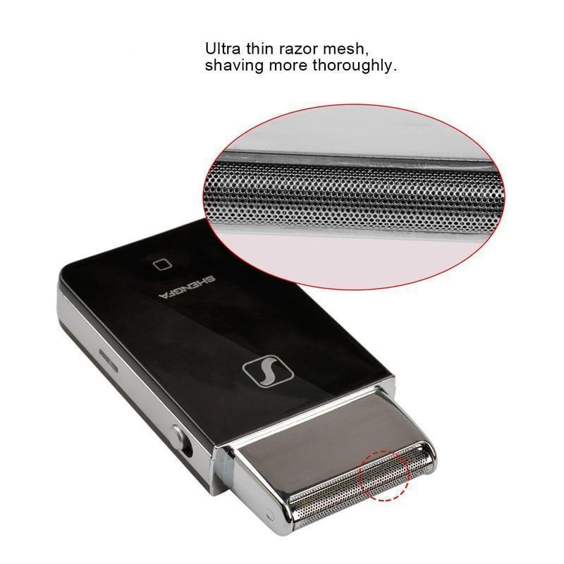 Stainless Steel Pocket Electric Shaver-shavercentre.com.au
