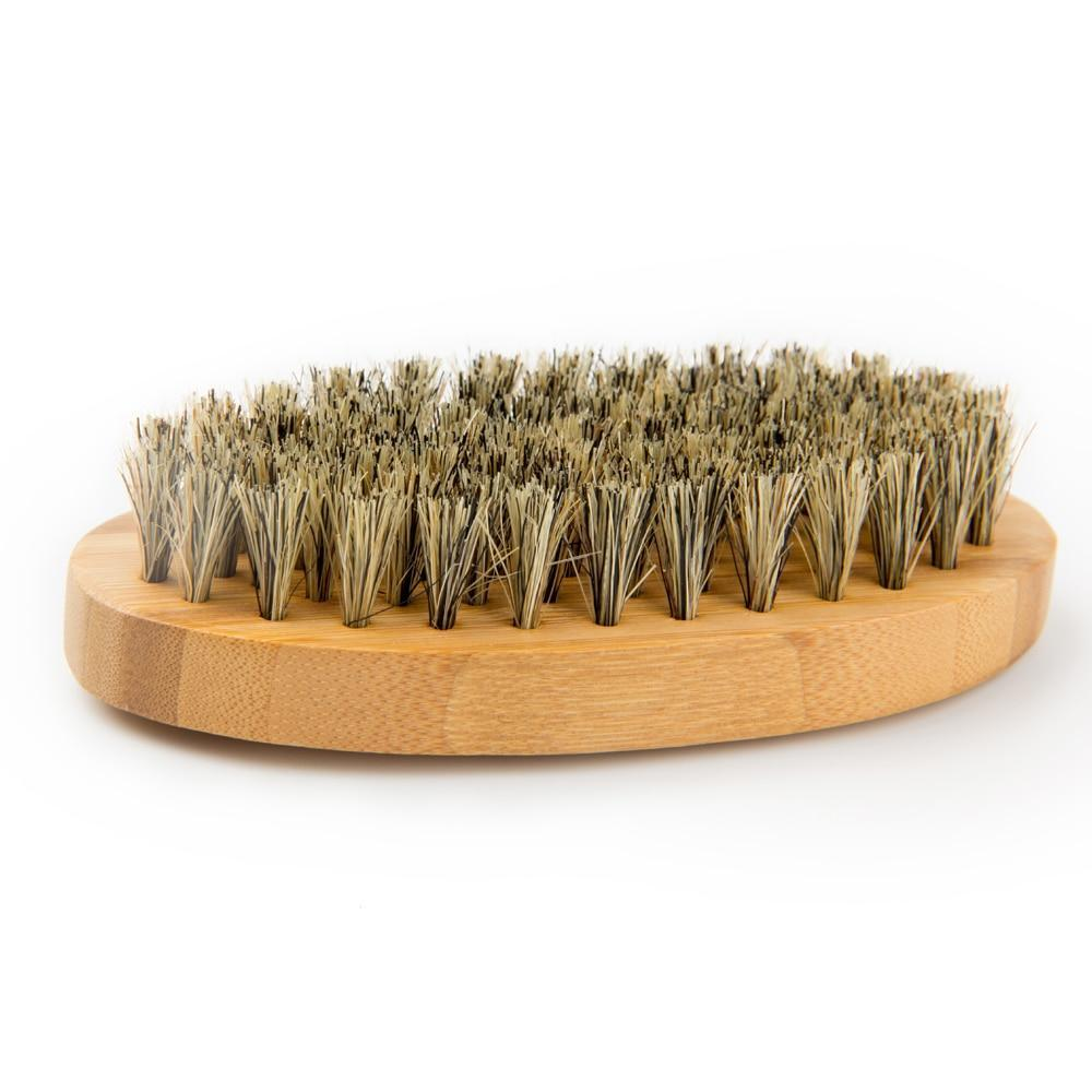 Natural Bamboo Boar Bristle Beard Brush-shavercentre.com.au