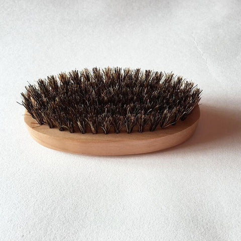 Image of Round Wooden Beard Brush-shavercentre.com.au