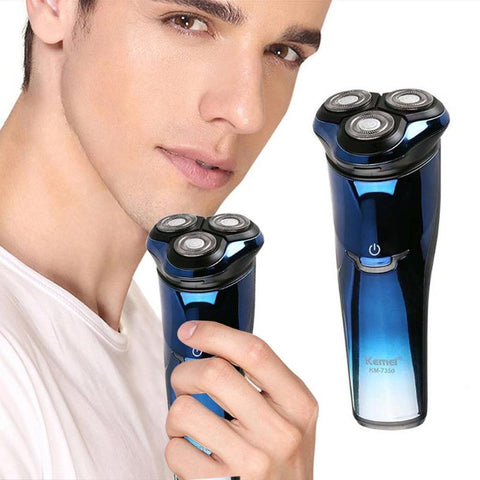 Image of Electric Shaver with 3D Triple Floating Blade Heads + Sideburn Trimmer-shavercentre.com.au