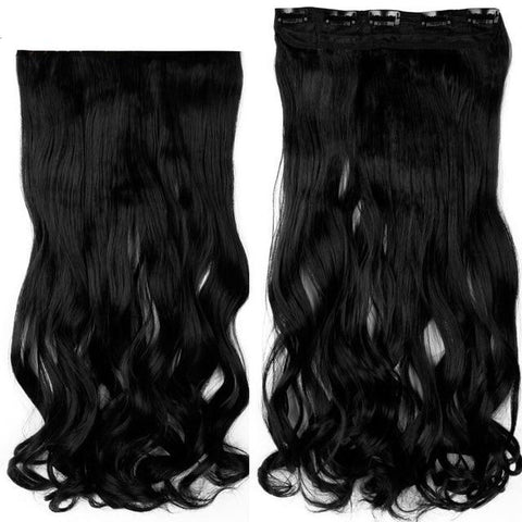 Image of 45- 71 cm Curly Full Head Clip in Hair Extensions-shavercentre.com.au