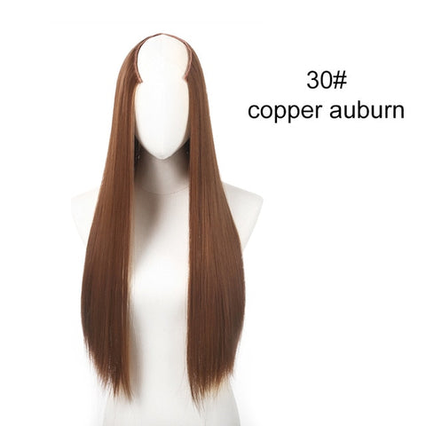Image of Straight and Wavy U-Part Clip in Hair Extension-shavercentre.com.au
