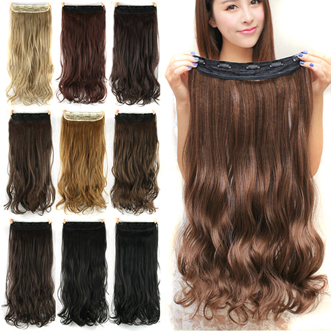 Image of Long, Natural Synthetic Hair Clip Extensions-shavercentre.com.au