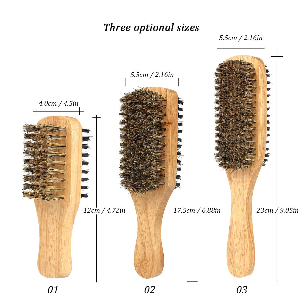 Wood Handle Beard Brush-shavercentre.com.au