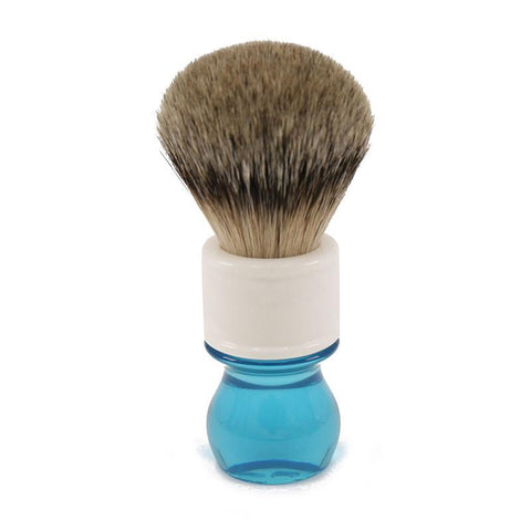 Image of Aqua Silver Tip Badger Shaving Brush-shavercentre.com.au