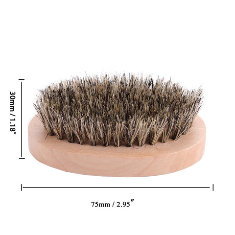 Image of Wood Moustache Brush-shavercentre.com.au