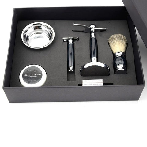 Image of Traditional Safety Razor + Deluxe Shaving Gift Set-shavercentre.com.au