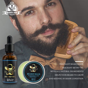 Elaimei Plant Based Beard Grooming Kit