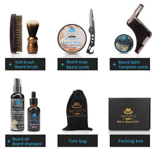Load image into Gallery viewer, Aliver Deluxe 8 Beard Care Kit