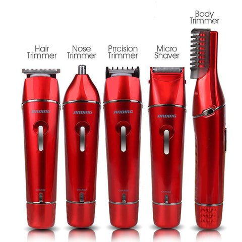 Image of 5-in-1 Waterproof Electric Shaver -Hair Clipper - Nose Hair Trimmer - Body Hair Trimmer - USB Charging-shavercentre.com.au