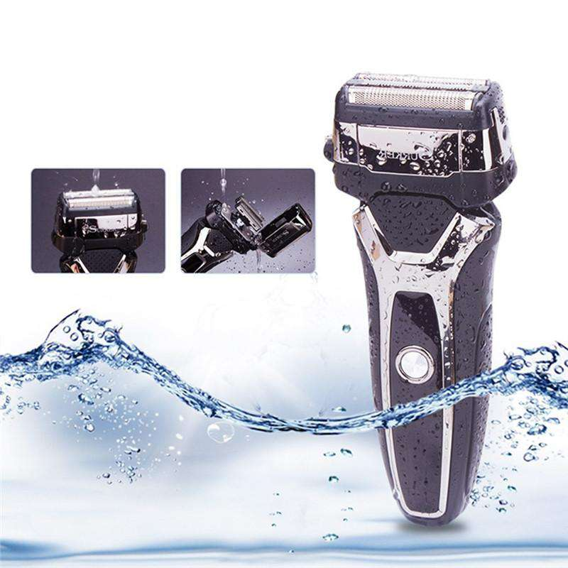 Electric Shaver Wet/Dry - LED Display - USB Charging - Waterproof - Sidebums Trimmer-shavercentre.com.au