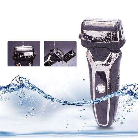 Image of Electric Shaver Wet/Dry - LED Display - USB Charging - Waterproof - Sidebums Trimmer-shavercentre.com.au