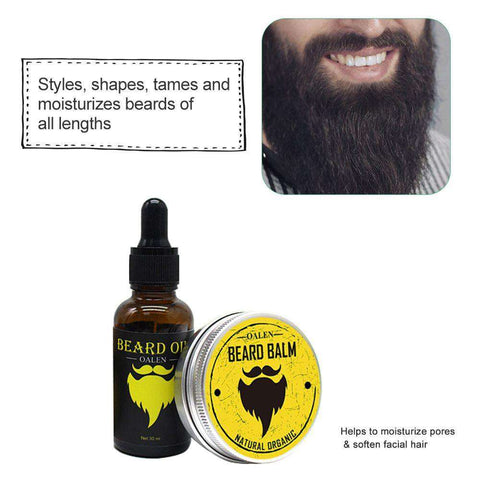OALEN Beard Oil & Balm Set-shavercentre.com.au