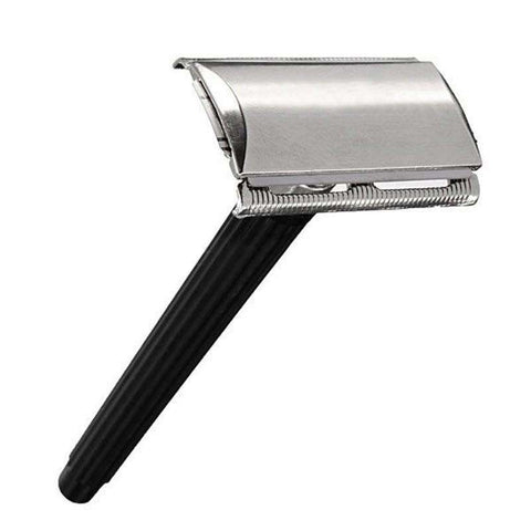 Image of Classic Stainless Steel Safety Razor-shavercentre.com.au