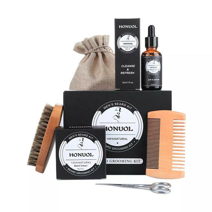 Honuol Beard Oil, Balm, and Combs Kit