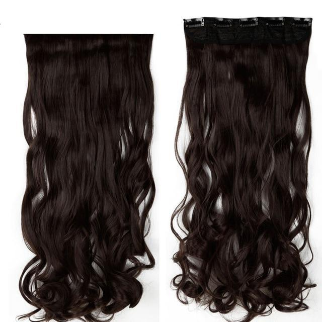 Extra Long Wavy Clip In Hair Extensions-shavercentre.com.au