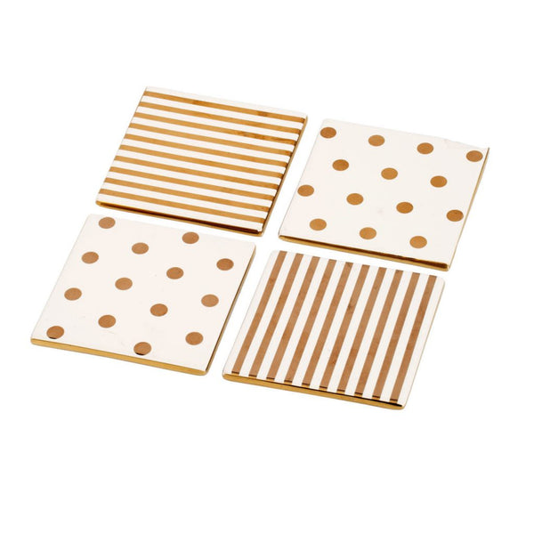 Shop A&B Home Navya Striped Square Decorative Plates at  Raley's Home Furnishing