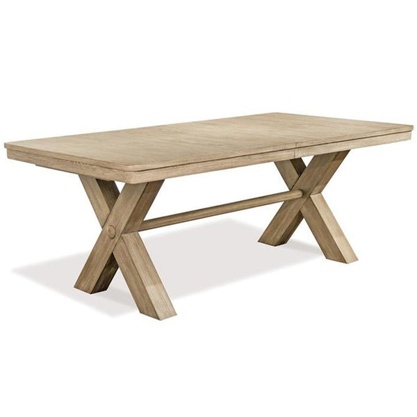 Shop Riverside Sophie Trestle Table at  Raley's Home Furnishing
