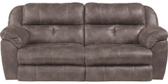 Ferrington Dusk Power Headrest and Power Lay Flat Reclining Sofa