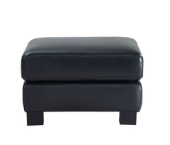 Shop Leather Italia Presley Black Leather Ottoman at  Raley's Home Furnishing