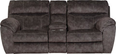 Sedona Smoke Power Headrest and Power Lay Flat Reclining Loveseat