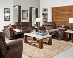 Sedona Mocha Power Headrest and Power Lay Flat Reclining Sofa