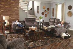 Sedona Smoke Reclining Sofa and Reclining Loveseat