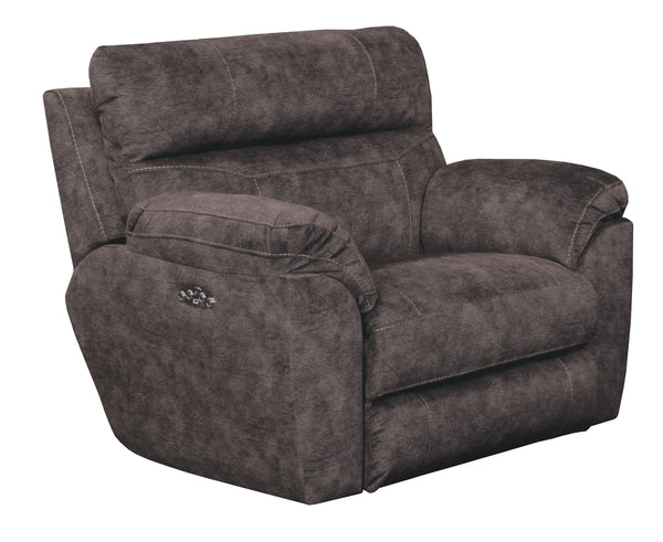 Sedona Smoke Power Headrest and Power Lay Flat Recliner