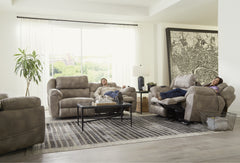 Flynn Fig Power Sofa and Power Loveseat