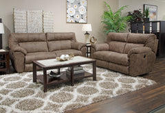 Hollins Coffee Power Reclining Loveseat