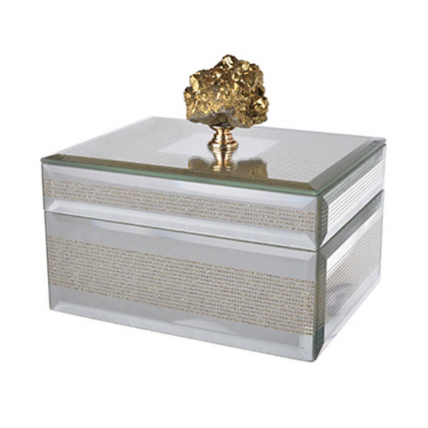 Shop A&B Home Sullivan Striped Box at  Raley's Home Furnishing