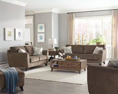 Alyssa Latte Sofa and Loveseat