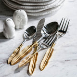 Shop A&B Home Gold Feathered Cutlery at  Raley's Home Furnishing