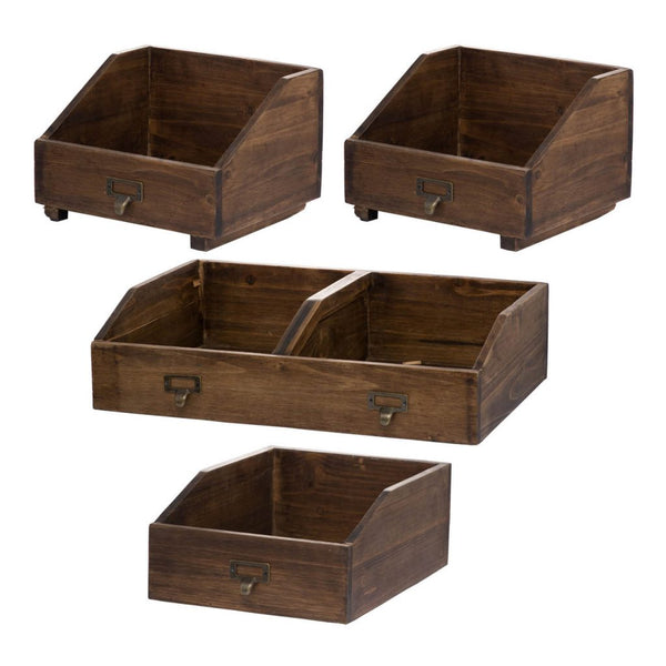 Shop A&B Home Amell Wooden Storage Boxes at  Raley's Home Furnishing